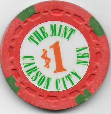 $1 Casino Chip THE MINT-Carson City, Nevada-N5241-Closed 1980-
