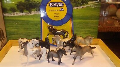 Breyer Stablemate Lot 1: Black Grey White G2s & G3s Flicka, RR WB, Andalusian!