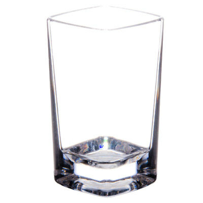 Commercial 2.5 oz. Polycarbonate Square Shot Glass Clear with Heavy Base Pack 24
