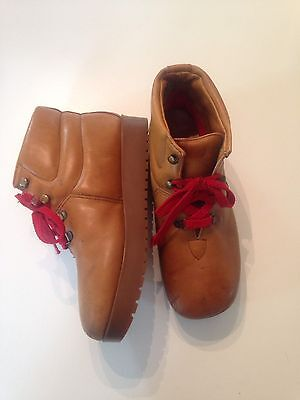Bass Sugarloafers 5539 Vtg Rare 70s Brown Hiking Boots Women's 8.5