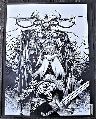 ORIGINAL ART TO ULTIMATUM 2 Pages 16-17 BY DAVID FINCH!