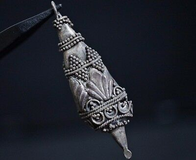 Ancient Viking Silver Amulet. Decorated Norse Pendant, circa 950-1000 AD.