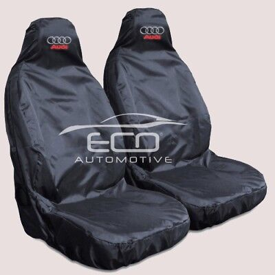 Audi SQ7 Heavy Duty Black Waterproof Car Seat Covers - 2 x Fronts