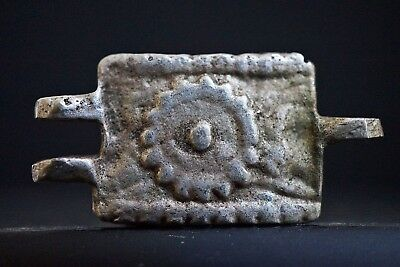 Ancient Viking Silver Amulet. Richly Decorated Norse Solar Pendant, 950-1100 AD