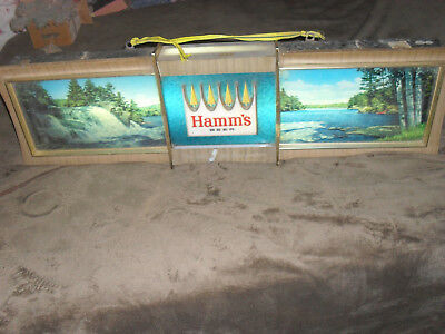 Vintage Advertising 1965? Hamms Anniversery  Rippler Panoramic Motion Beer Light