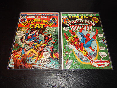 High Grade Bronze Age Comic Lot Of TWO Marvel Team #'s 8 & 9 VF+  Cond.