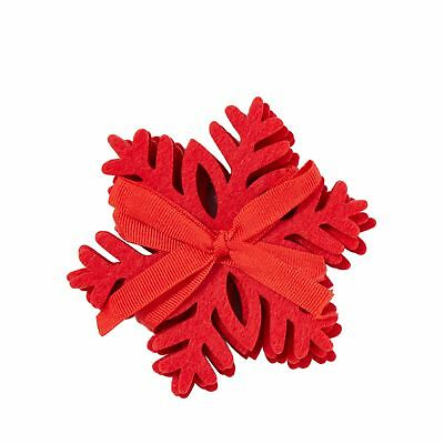 Home Collection Pack Of 4 Red Laser Cut Snowflake Coasters From Debenhams