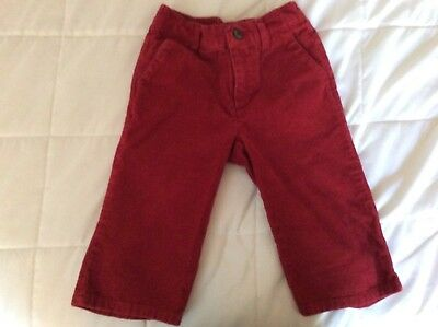 JANIE and JACK Baby Boys 12-18M Red Cotton 4 Pocket Corduroy Pants