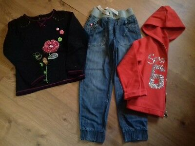 Lot jean(Next)+2 sweat (Benetton et Premaman), t 6-7 ans en TBE (116-122 cm)