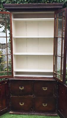 Victorian Pine Tall Library Bookcase