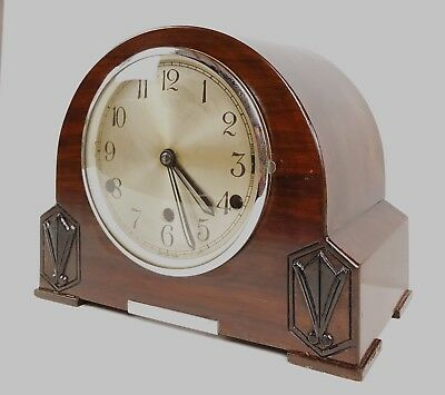 Art Deco British Kenilworth Westminster Chiming Mantle Clock