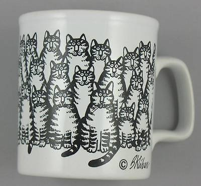 Vintage Kliban Cat Convention Mug Kiln Craft Stafforshire Potteries England