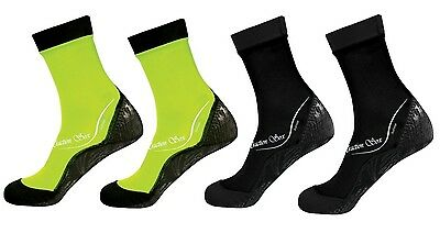 ScubaMax Kids Toddlers Water Sports Traction Soxs - MEDIUM - 2 NEON YLW & 2 BLK