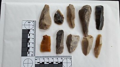 Mesolithic Blades, Lewis Abbot & H Dewey Collection Hastings Midden