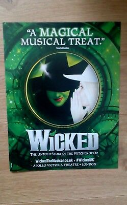 Wicked the Musical A4 Colour Magazine Advert/Poster