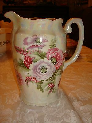 Antique Victorian Porcelain Opalescent Jug Pitcher