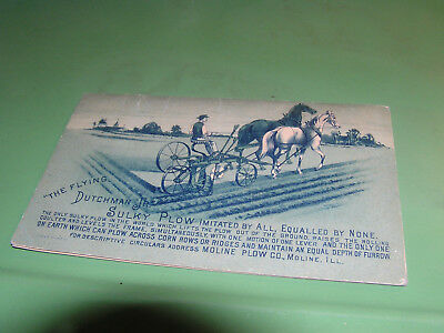 Map Ohio 1890 Presented by Moline Plow Co Horse Drawn Cultivators  Antique Corn