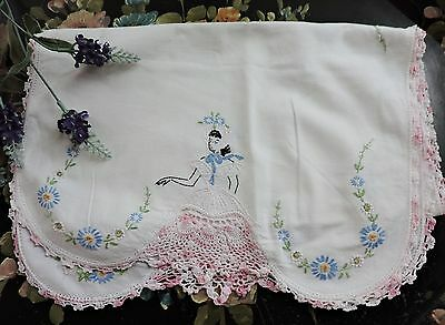 Vintage Runner  with floral embroidery  and Southern Lady