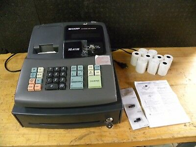 Pre-Owned Sharp XE-A106 Electronic Cash Register w/ Paper and Ink WORKS GREAT