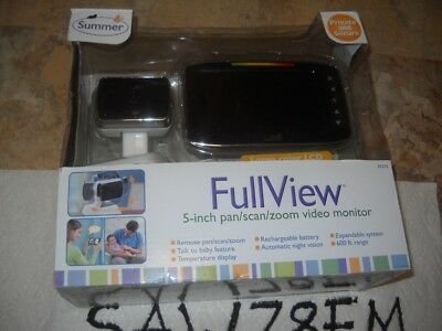 Summer Infant Full View 5-inch Pan/Scan/Zoom Video Baby Monitor