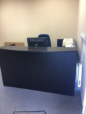 New Black Buisness reception desk set with brand new table