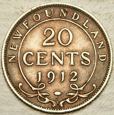 Newfoundland (Canada) Silver 20 Cents 1912 (Lot #2)