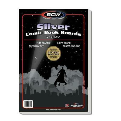 100 Bcw Silver Age  Comic Book Backer Boards