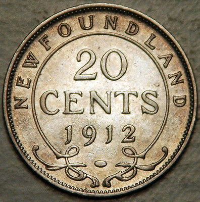 Newfoundland (Canada) Silver 20 Cents 1912 (Lot #1)