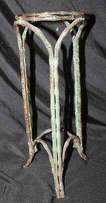 Beautiful Antique ARTS & CRAFTS Bronze Bamboo style  Umbrella or Cane Stand