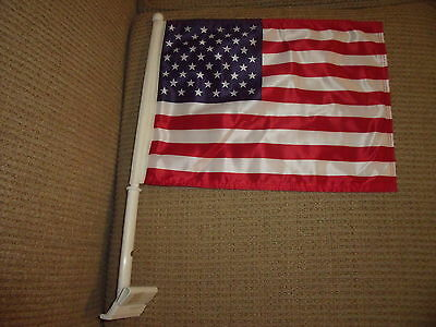 "2  Sided U S A CAR FLAG 14""x 10"" New"