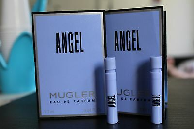 2 x ANGEL MUGLER EAU DE PARFUM SPRAY 1,2 M 0.04 FL.OZ. SAMPLE BNIB CAMPIONE