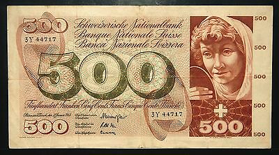 Switzerland 500 Francs 1965 (Vf)