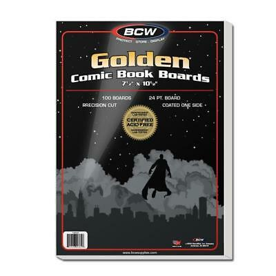 200 Bcw Golden Age Comic Bags And Boards