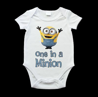 One in a minion boy baby romper suit, funny minion baby one piece