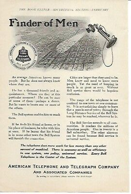 Telephone Does More Work for Less Money 1910 Vintage Ad American Telephone Co