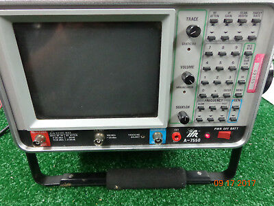 IFR A-7550 Spectrum Analyzer radio test equip.  Powers on.  Being sold for Parts