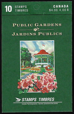 Canada Stamps — Booklet Pane of 10 in Cover — Public Gardens #1315b (BK130) MNH