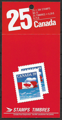 Canada -Booklet Pane of 25 Stamps in Cover -Flag over Clouds #1166b (BK115) -MNH