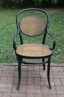 Antique THONET Style Bentwood Cane Chair