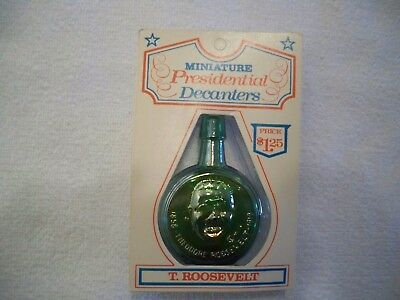 Vintage Wheaton Glass President Collection Mini - Decanters  -Theodore Roosevelt