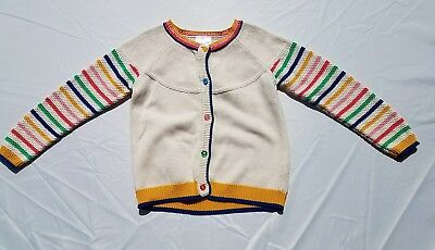 Hanna Andersson Sweater Size 120 6 7 Rainbow Cardigan Button