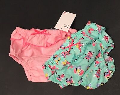 NEW TARGET Baby Girl Bloomers Size 000 Or 0-3 Mth Newborn Infant Nappy Cover *2