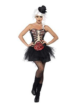Smiffy's 41029M - Grotesque Burlesque Corsetto Nero con Lattice Ribcage (n2k)