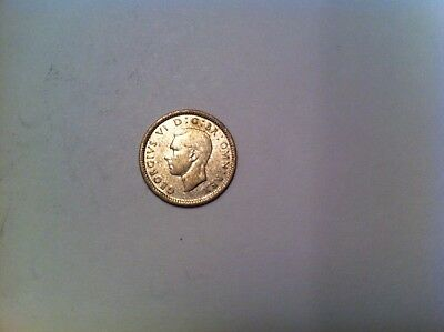 1943 Great Britain 3 Pence, Nice Grade, Silver, British, three threepence (164)