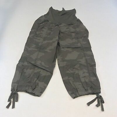 Oh Baby! by Motherhood Women's Pants Capris Size Small Maternity Camo Stretch