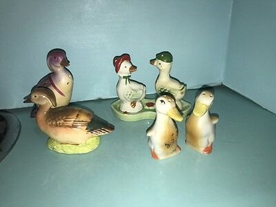 Nice Lot Of Vintage Made In Japan Ducks Salt & Pepper Shakers...lqqk!