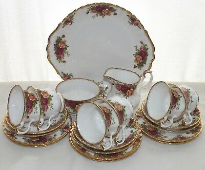 Royal Albert Old Country Roses 21 Piece Teaset