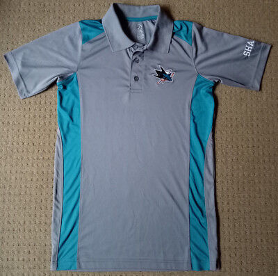 Official NHL San Jose Sharks Mens Polo Shirt - Size S
