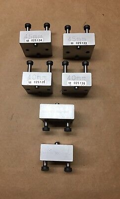 Machinist Metrology Precision Blocks - Set of 6 - 45mm & 40mm and Other - Clean