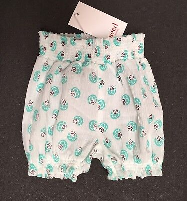 NEW SEED Heritage Baby Girl Bloomers Size 00 Or 3-6 Months RR$29.95 FREE POSTAGE